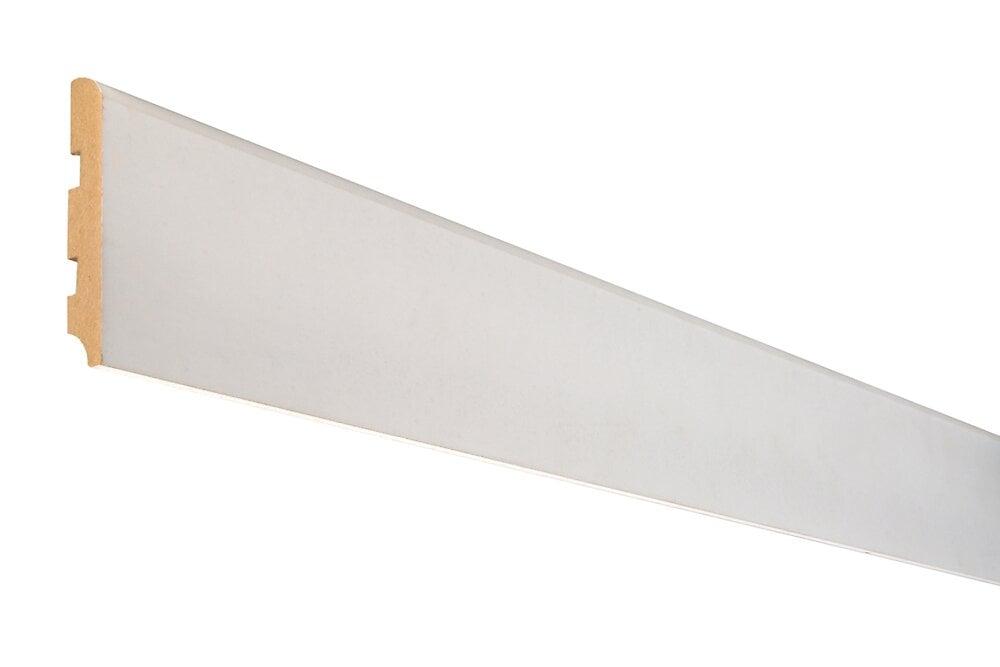 Plinthe Parquet cache-fils MDF Blanc 14x80 L.2.44m