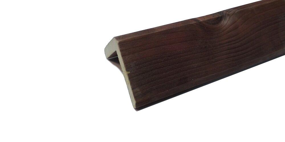 Angle Sapin traité classe III Marron 45x45 L.2.50m