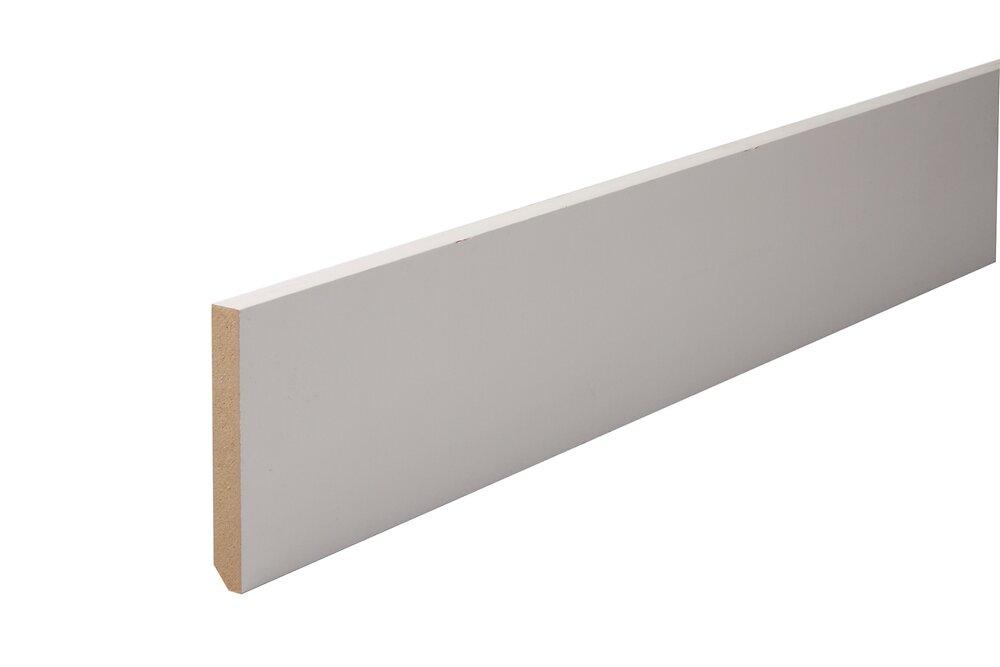 Plinthe MDF Prépeint Blanc 10x70 L.2.44m