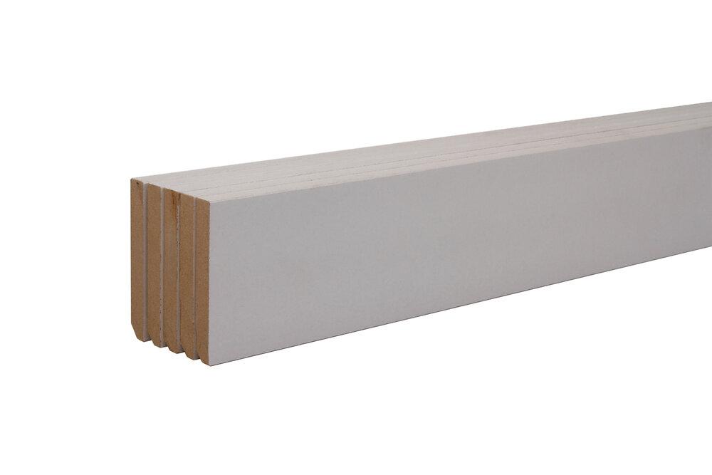 Plinthe MDF Blanc 10x70 L.2m Lot de 5