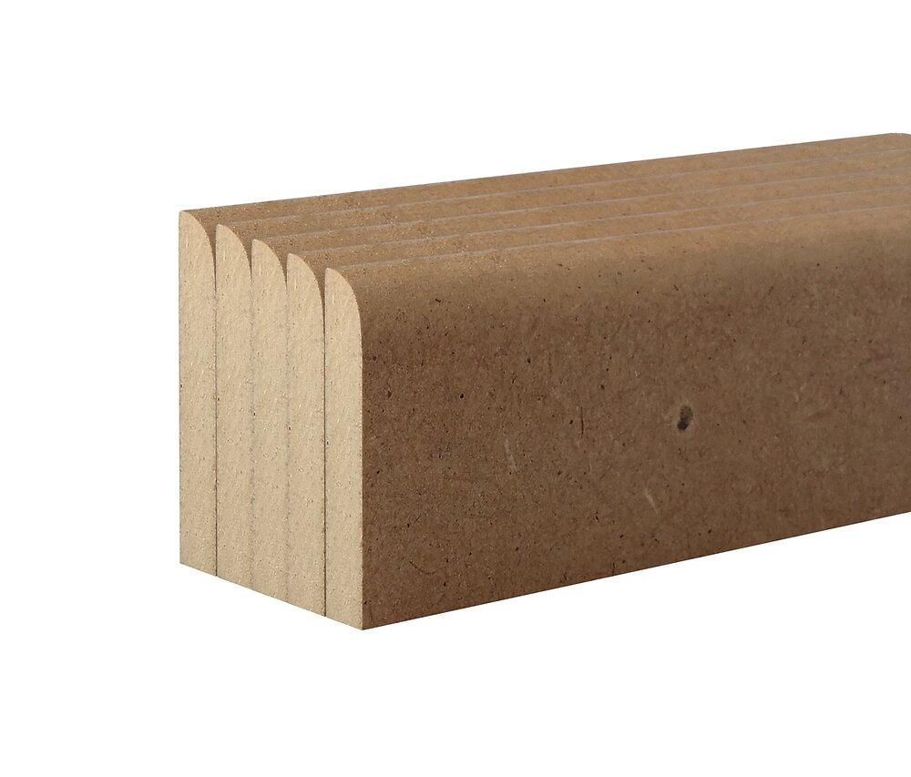 Plinthe réversible MDF 10x70 L.2m Lot de 5