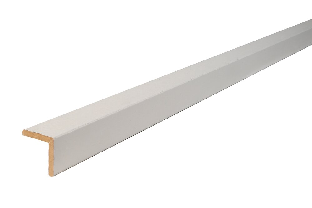 Angle arrondi MDF Blanc 23x23 L.2.44m