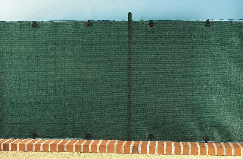 Brise-vue PE tissé 95% bouton Vert 1.50x10m