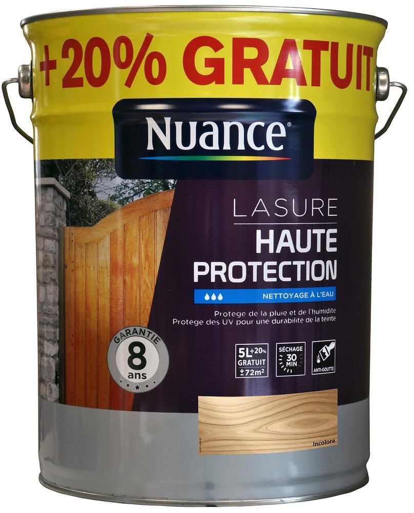 Lasure haute protection incolore 6L