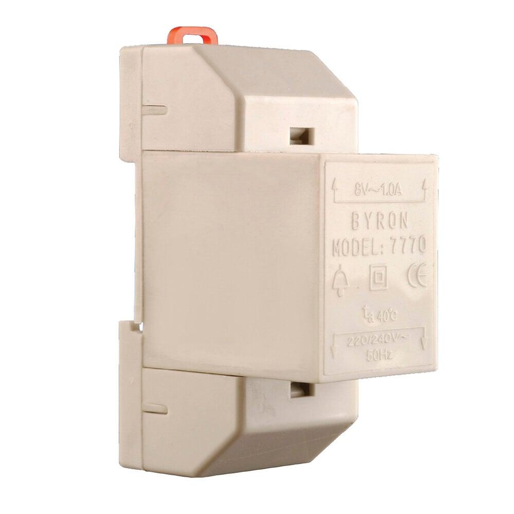 Transformateur 8V 1A 2 fils pour carillons