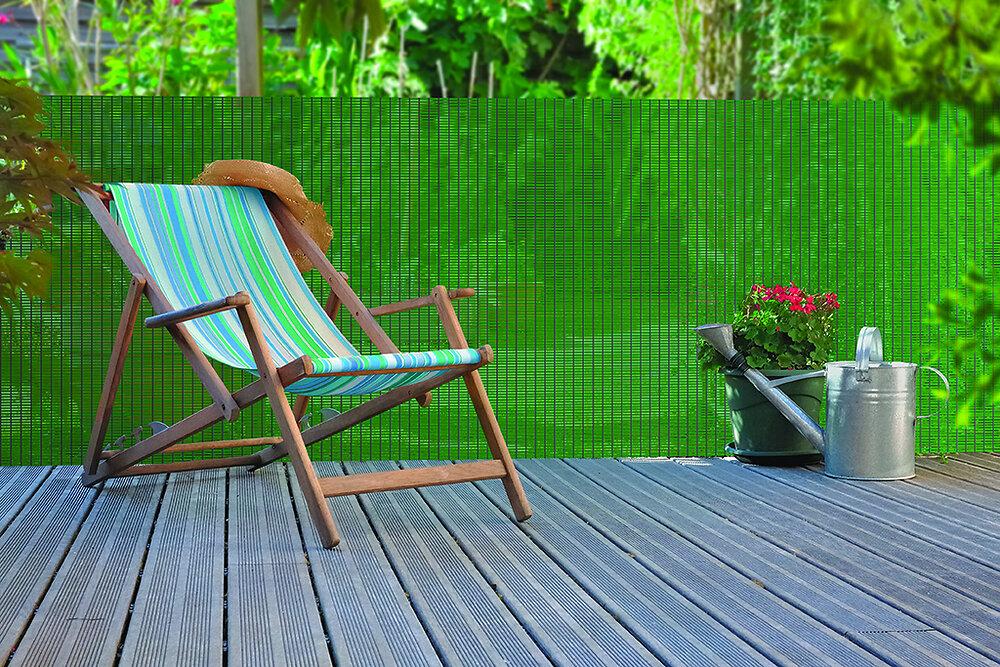 Brise-vue 85% écran rigide plastique Vert 1x3m