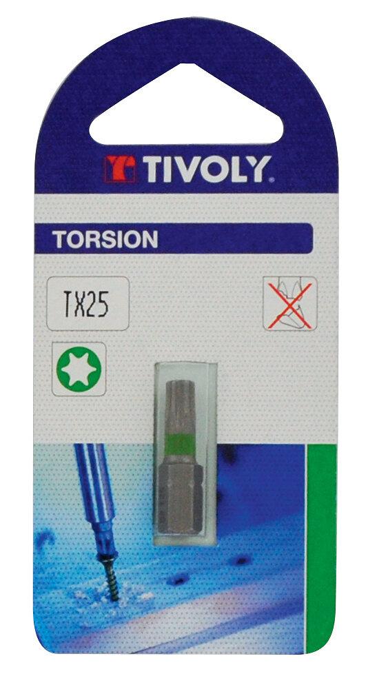Embout torsion pour vis 25mm Torx n.25
