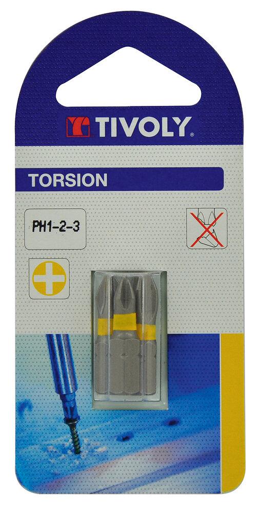 Embout torsion PH n.1-2-3 Lot de 3