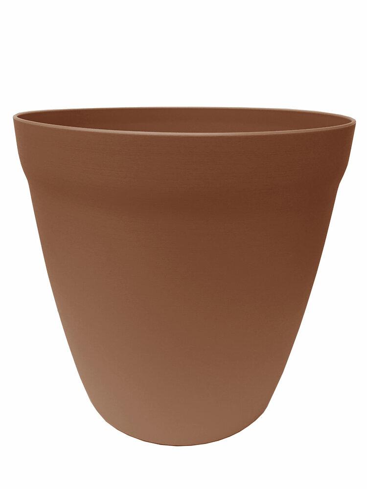 Pot Lilo rond 24 terre de sienne