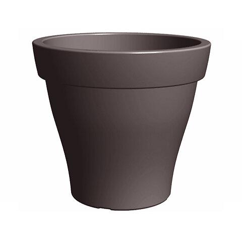 Pot Romeo 80 rotomoule taupe