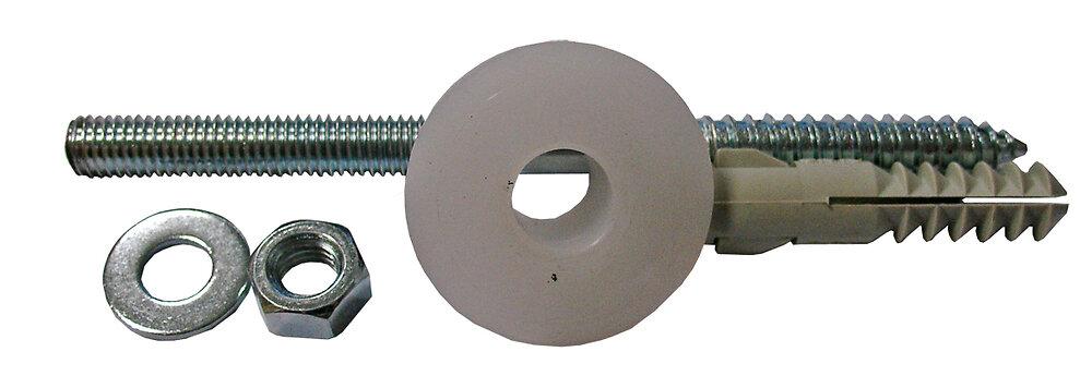 Blister 2 chevilles nylon 14x70mm + 2 vis bois/métal