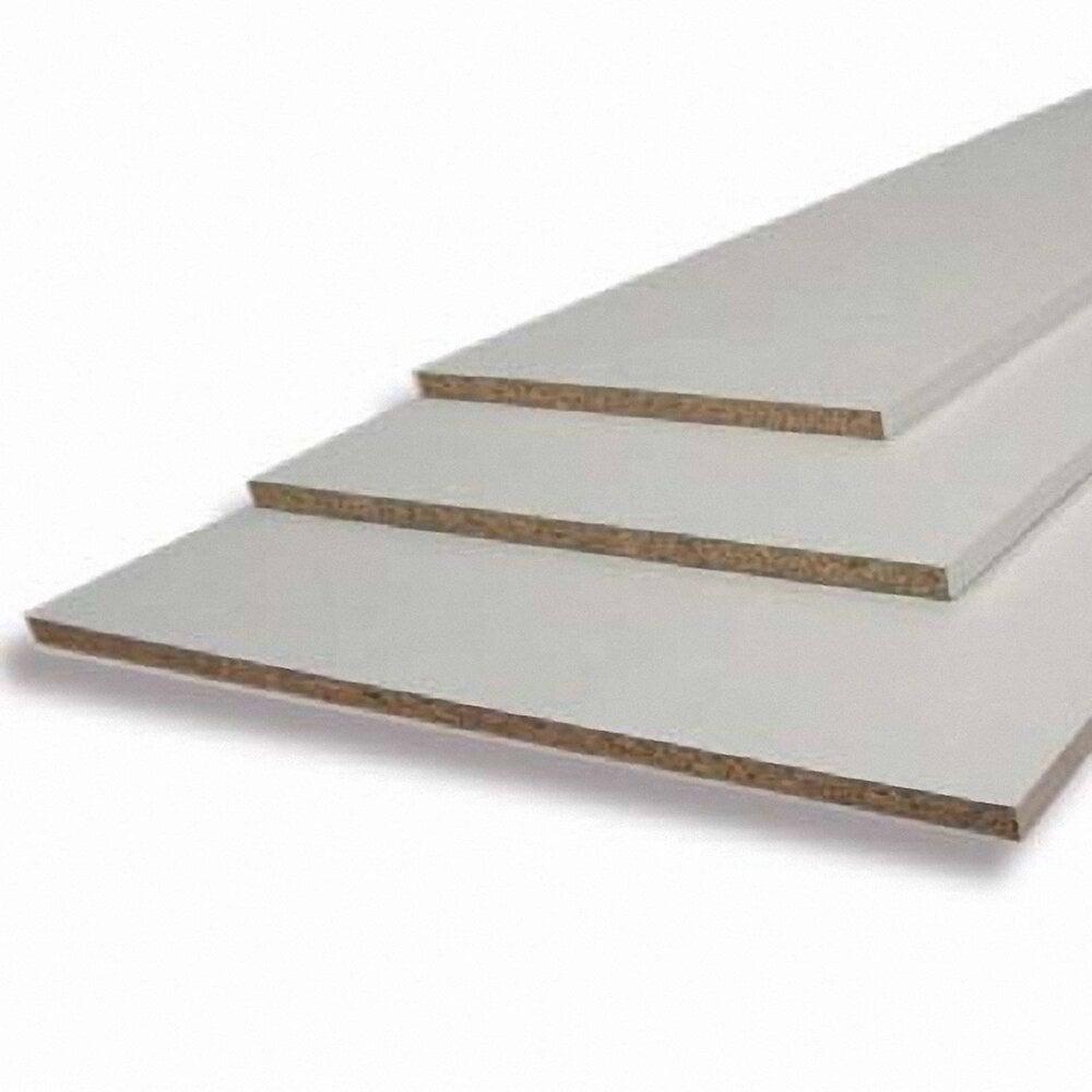 Tablette mélaminé coloris Blanc 2500x500x18mm