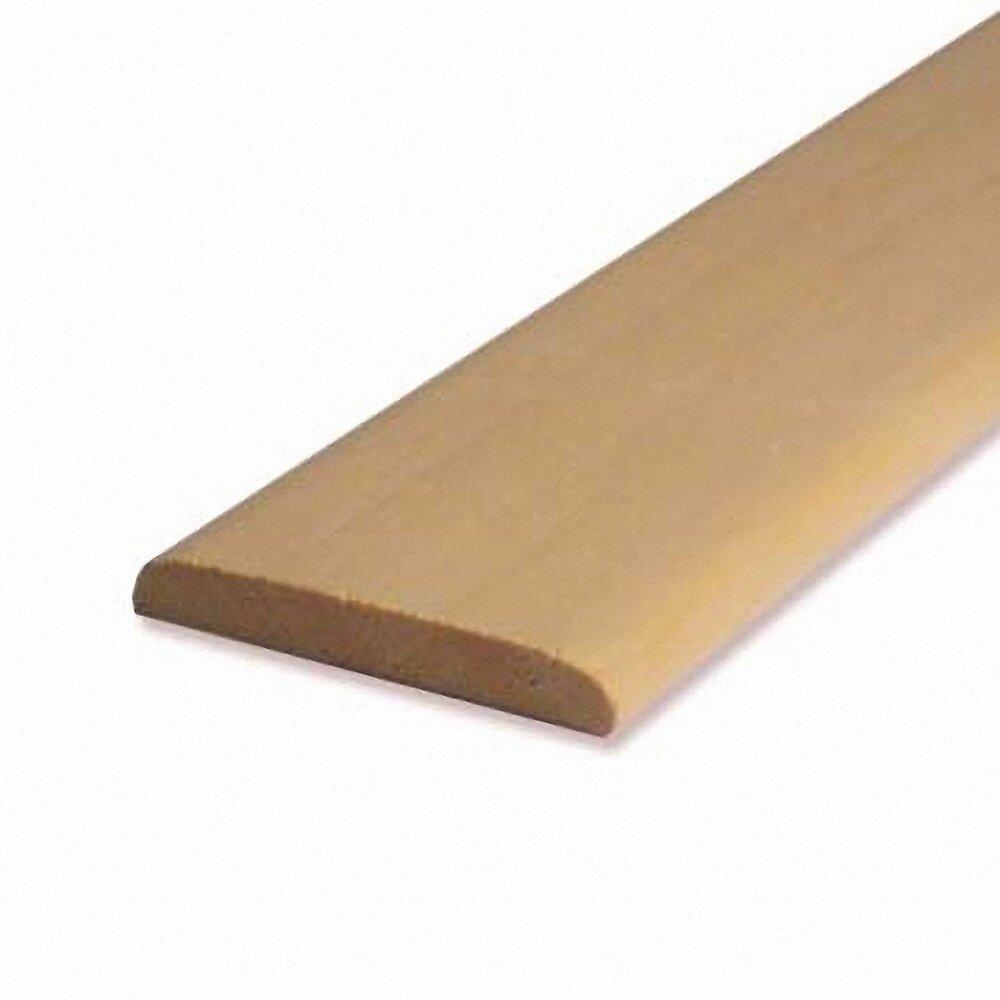 Chant plat bois exotique Blanc 5.5x23mm L.2.28m