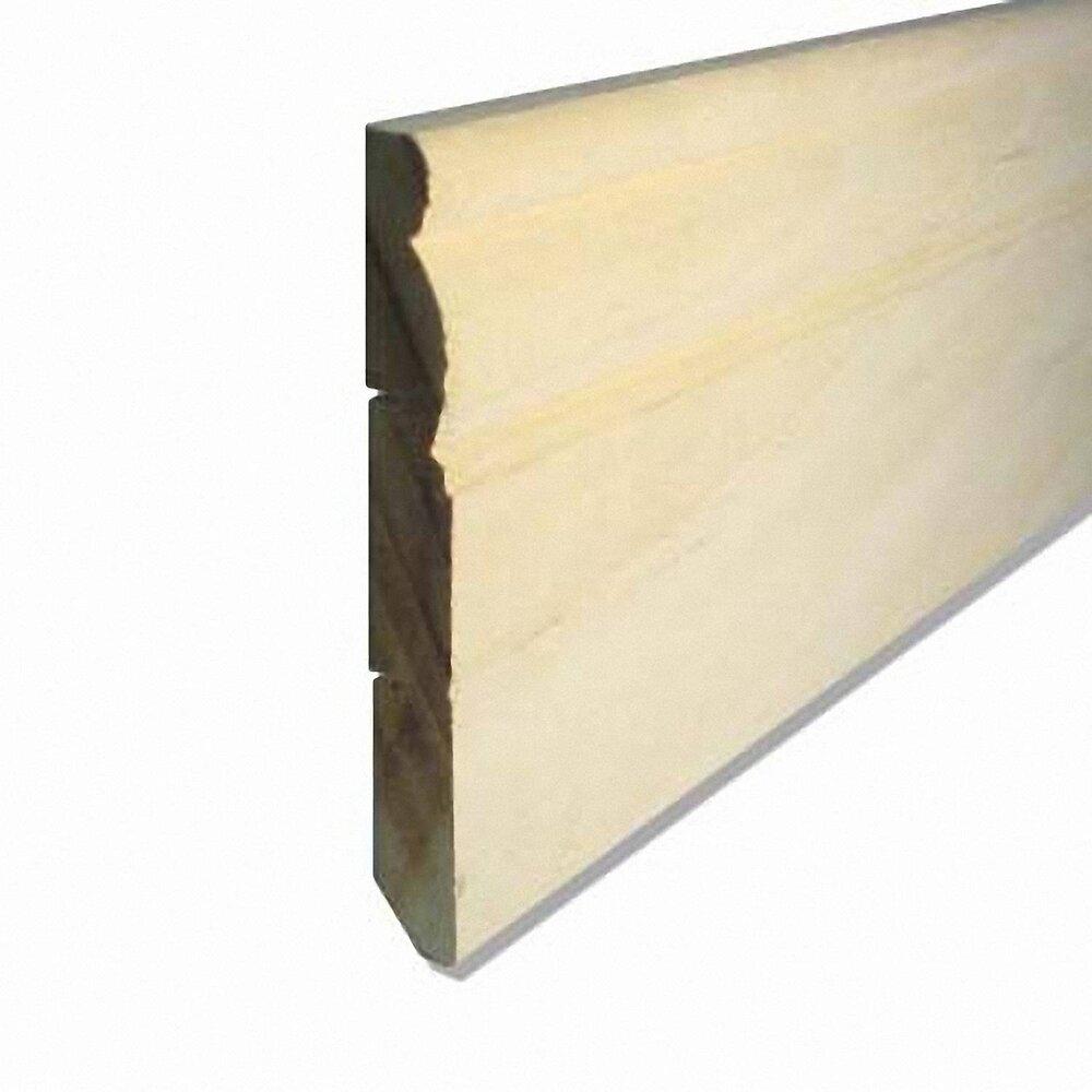 Plinthe bois exotique Blanc 11x98mm L.2.38m