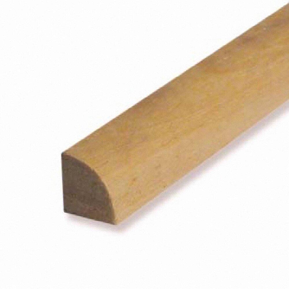 Quart-de-rond bois exotique Blanc 13x13mm L.2.28m