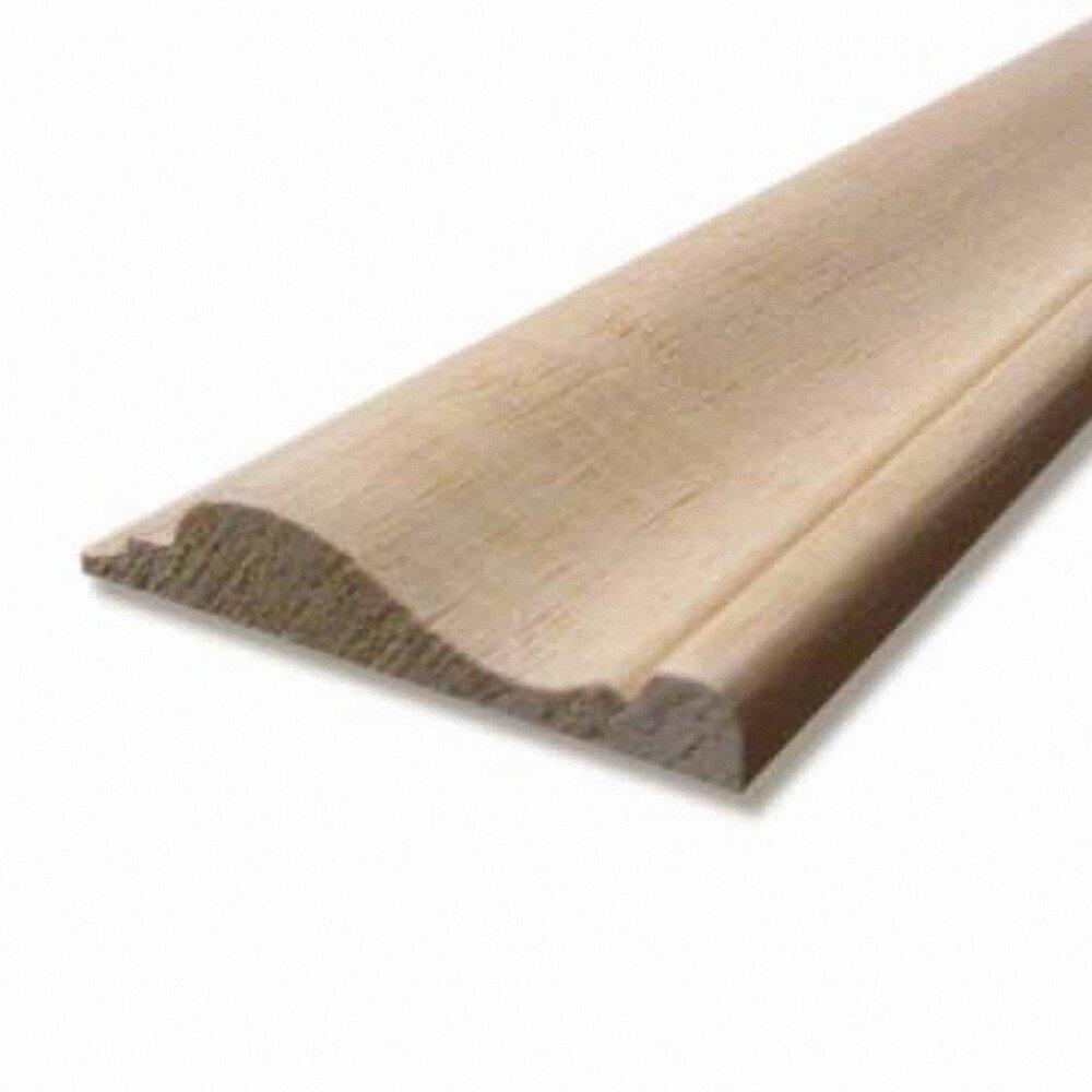 Cimaise classique Bois exotique Blanc 17x58mm L.2.28m