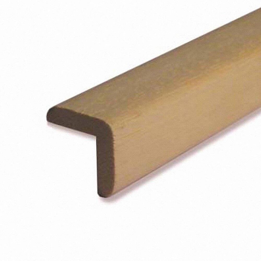 Baguette d'angle bois exotique Blanc 22x48mm L.2.28m