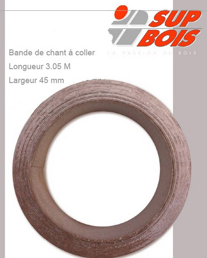 Chant à coller stratifié Chêne rustique 1x45mm L.3.05m