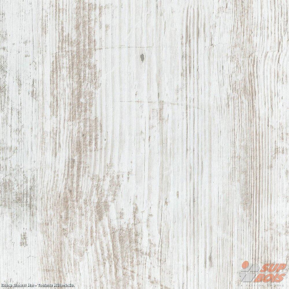 Tablette mélaminé coloris Chêne blanchi 1200x500x18mm
