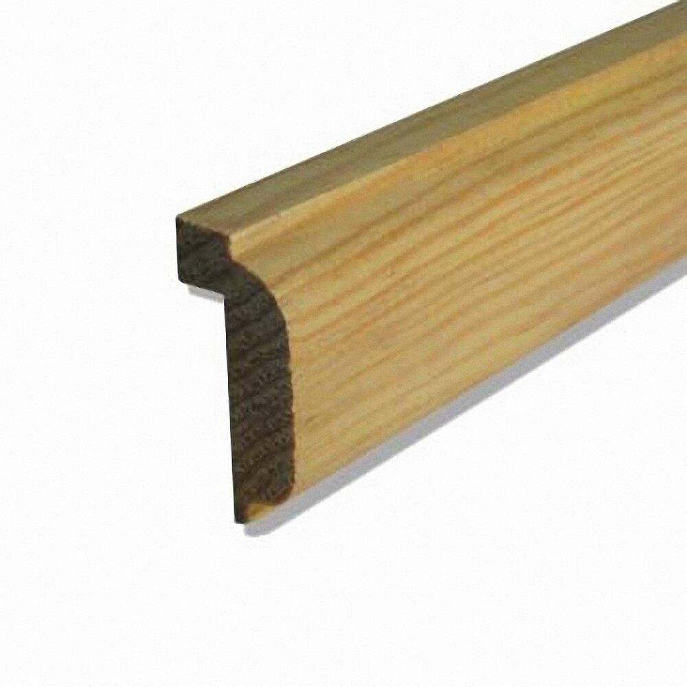 Moulure plan de travail Pin 19x38mm L.2.38m