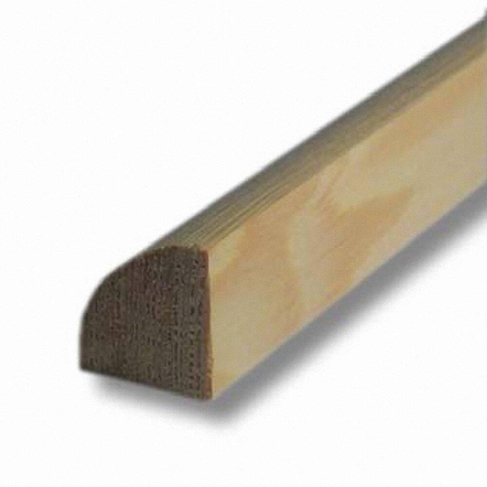 Quart-de-rond Sapin 18x18mm L.2.48m