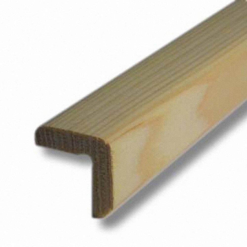 Baguette d'angle Sapin 28x28mm L.2.48m