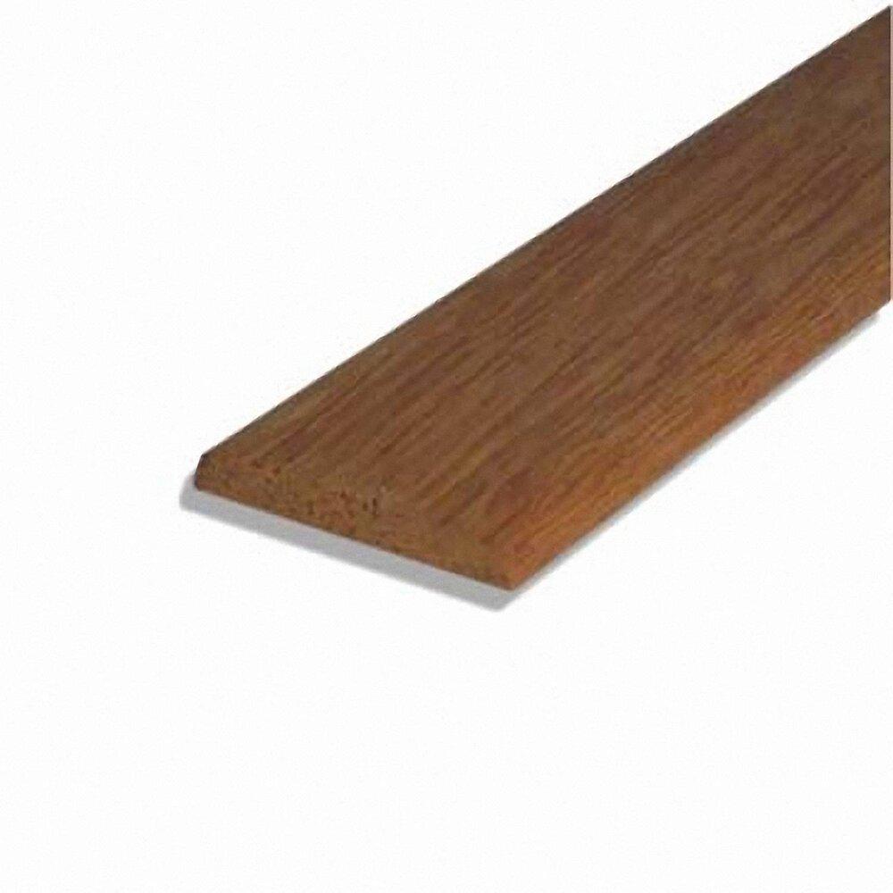 Chant plat bois exotique Rouge 4.5x30mm L.2.38m