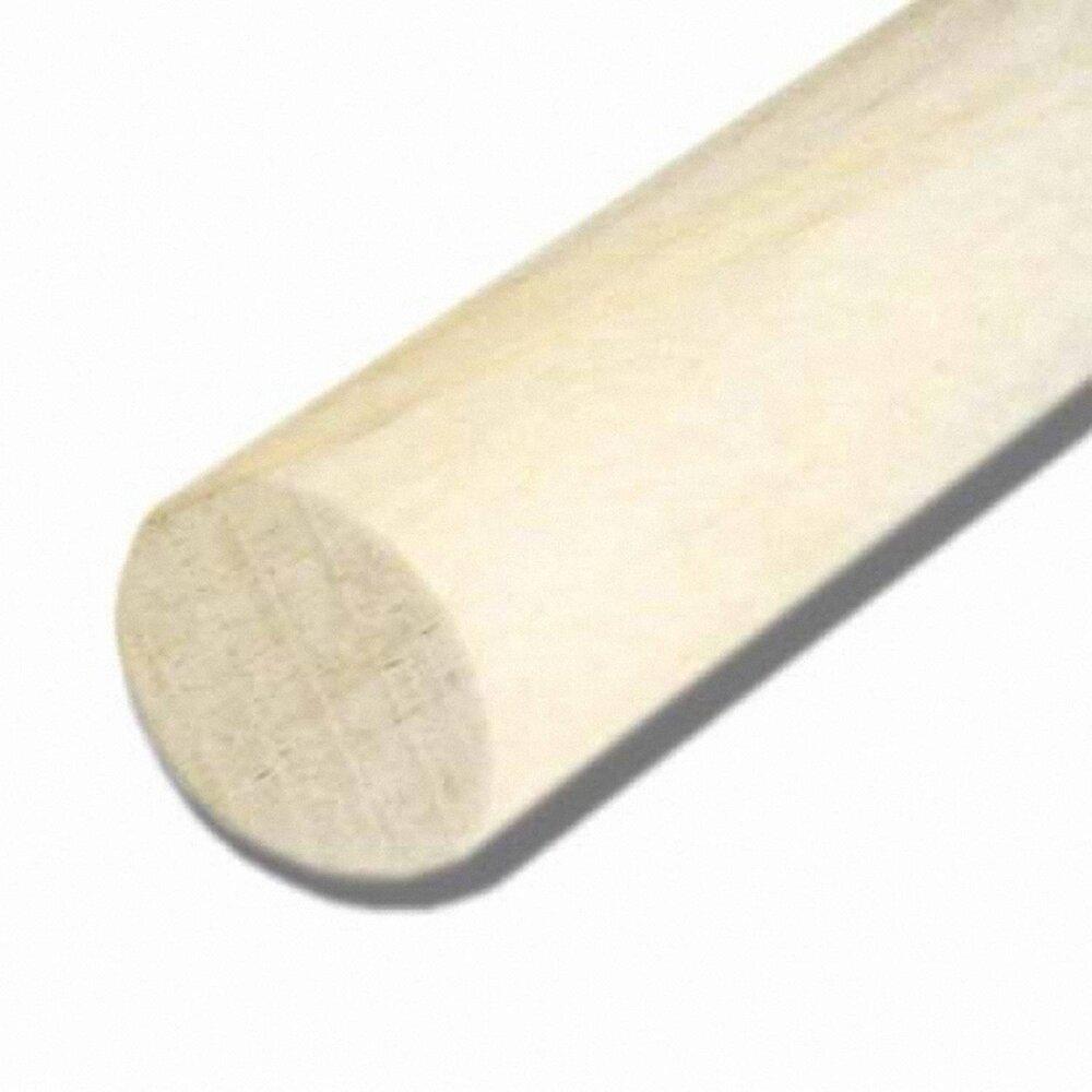 Bâton rond bois exotique Blanc 19x19mm L.2.30m