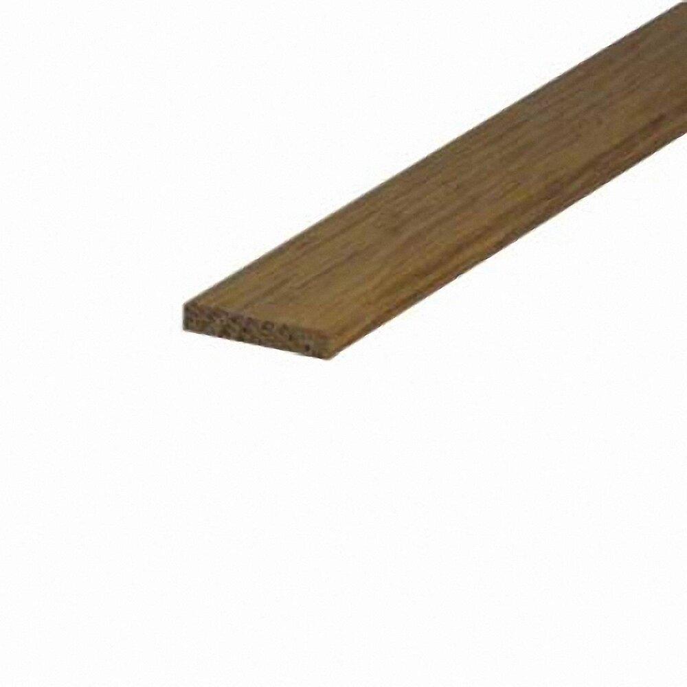 Chant plat angles vifs Chêne 5.5x28mm L.2.38m