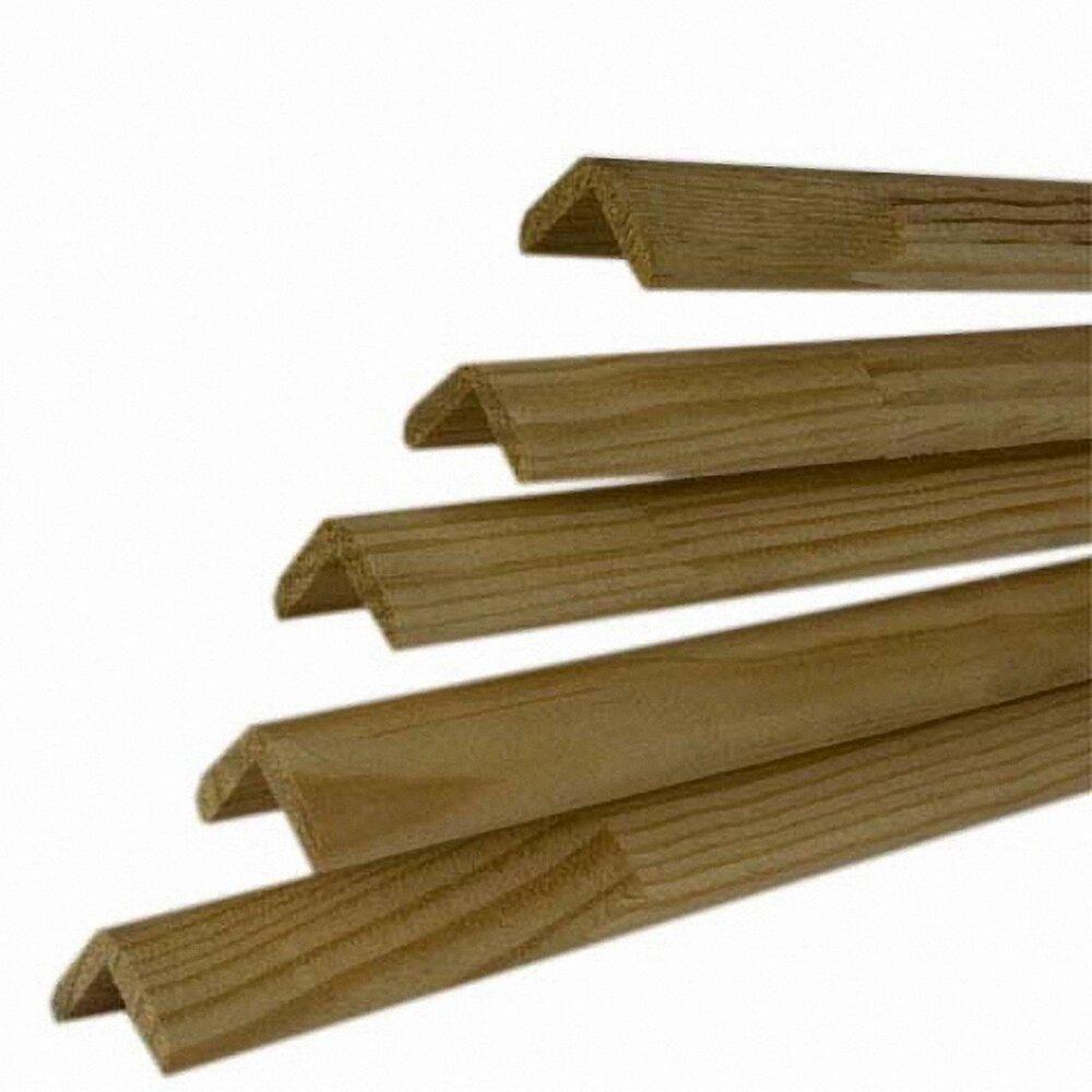 Baguette d'angle Pin rustique 28x28mm L.1.98m-Lot de 5