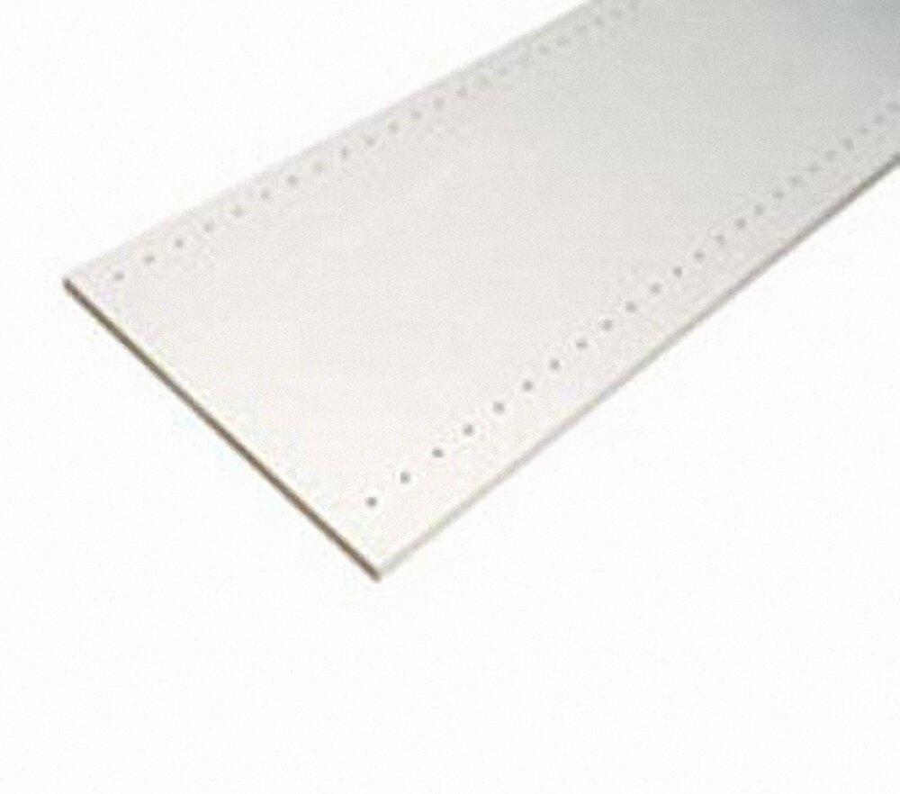 Tablette mélaminé prépercée Blanc 2500x500x18mm