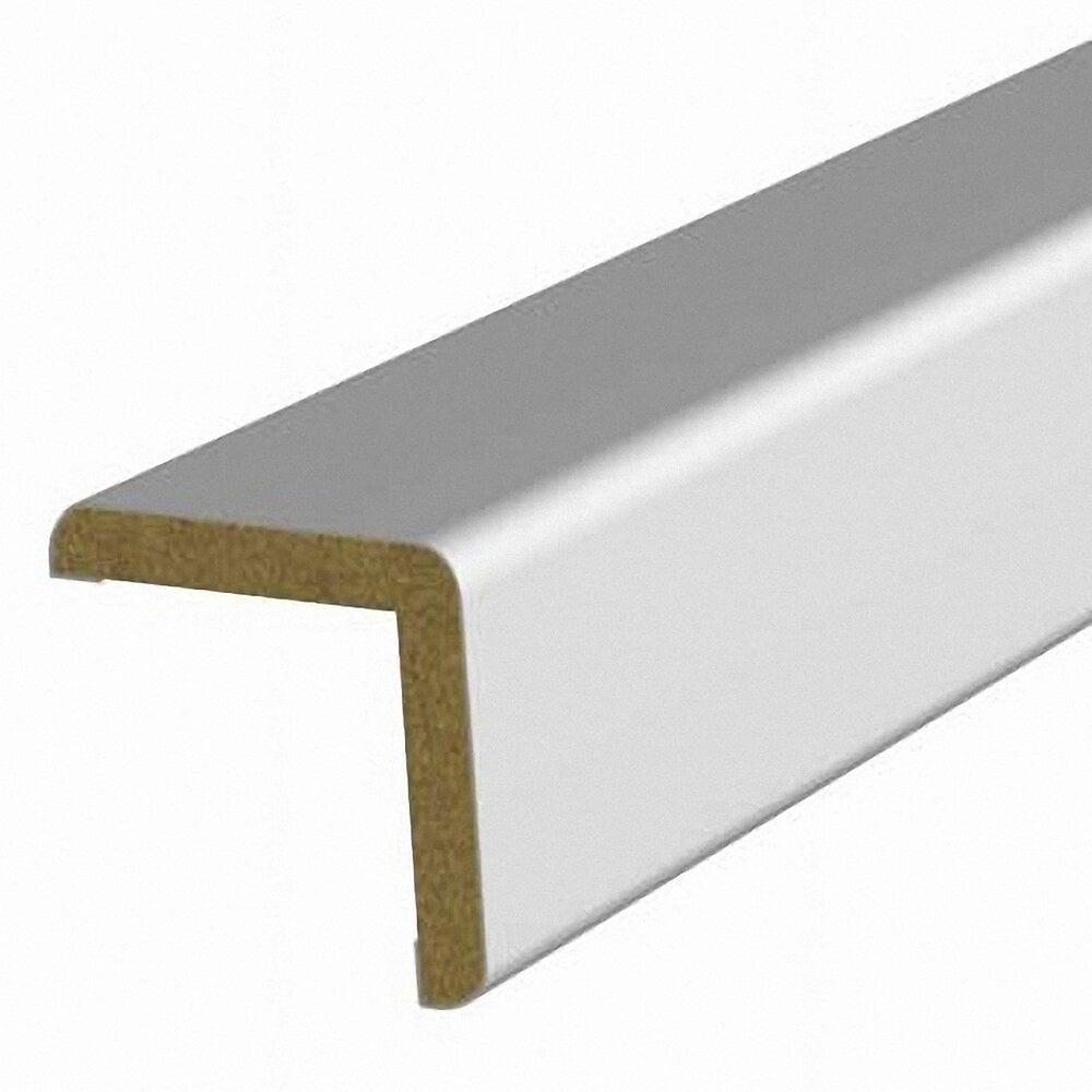 Baguette d'angle MDF revêtu Blanc 25x25mm L.2.20m