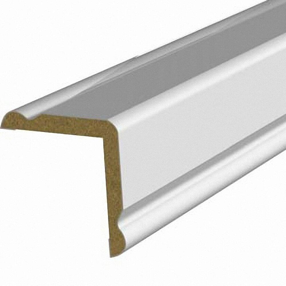 Baguette d'angle MDF revêtu Blanc 30x30mm L.2.20m