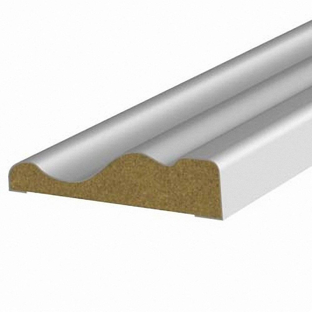 Chambranle MDF revêtu Blanc 9x40mm L.2.20m