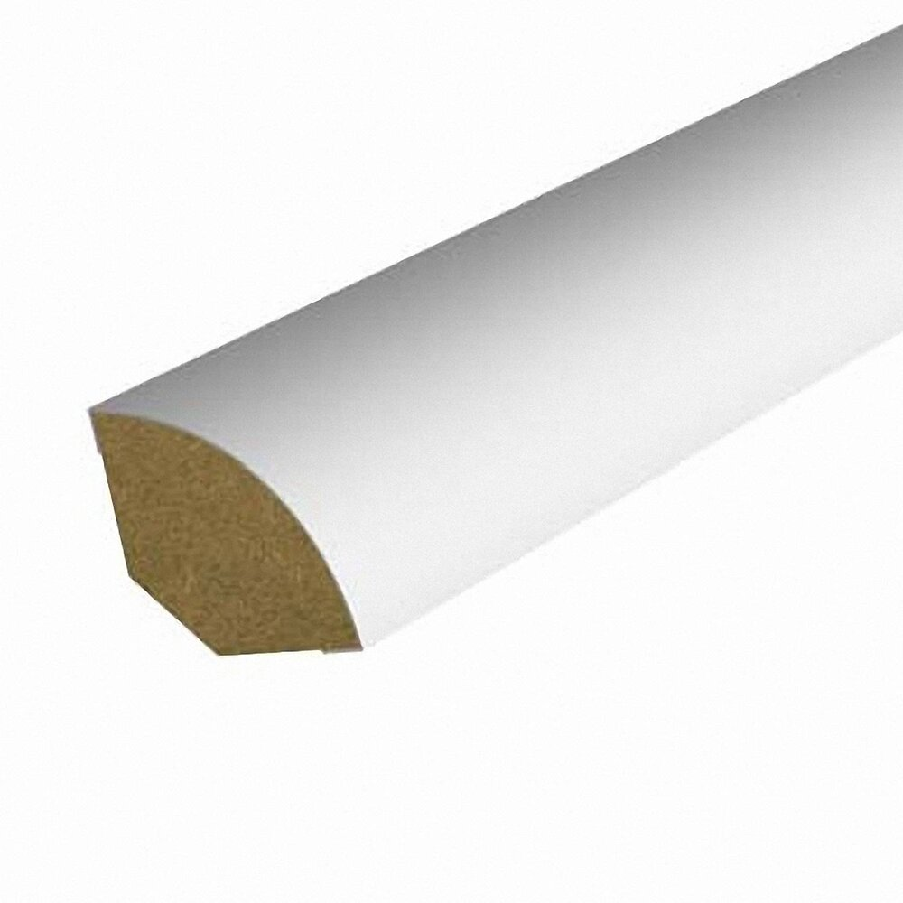 Quart-de-rond MDF revêtu Blanc 12x12mm L.2.20m