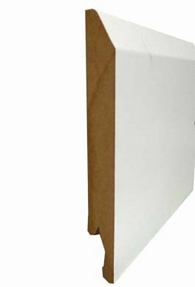 Plinthe chanfreinée MDF revêtu Blanc 14x120mm L.2.40m