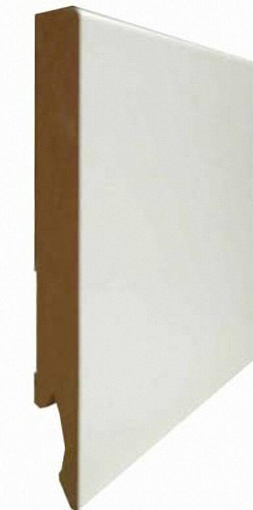 Plinthe droite MDF revêtu Blanc 14x120mm L.2.40m
