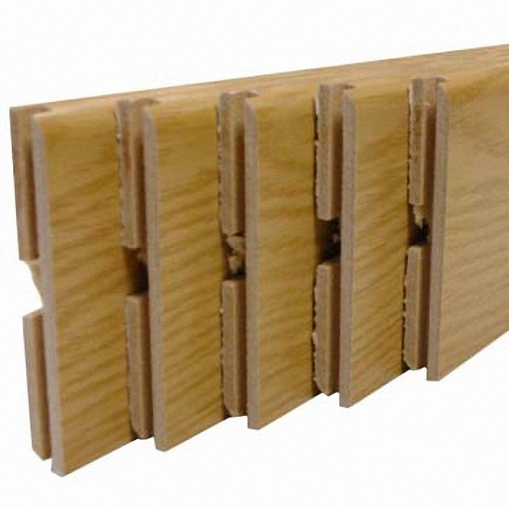 Plinthe MDF revêtu Chêne cerusé 8x70mm L.2.20m-Lot de 5