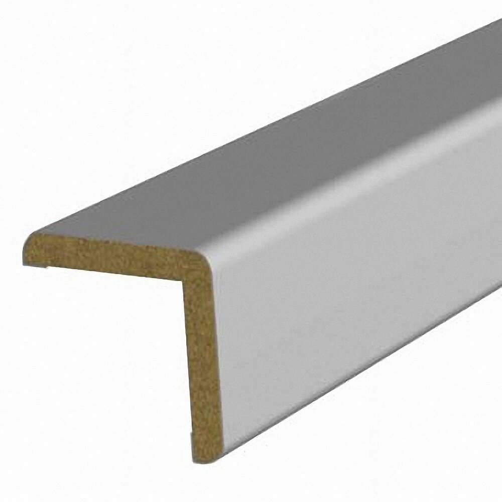 Baguette d'angle MDF revêtu Gris 25x25mm L.2.20m