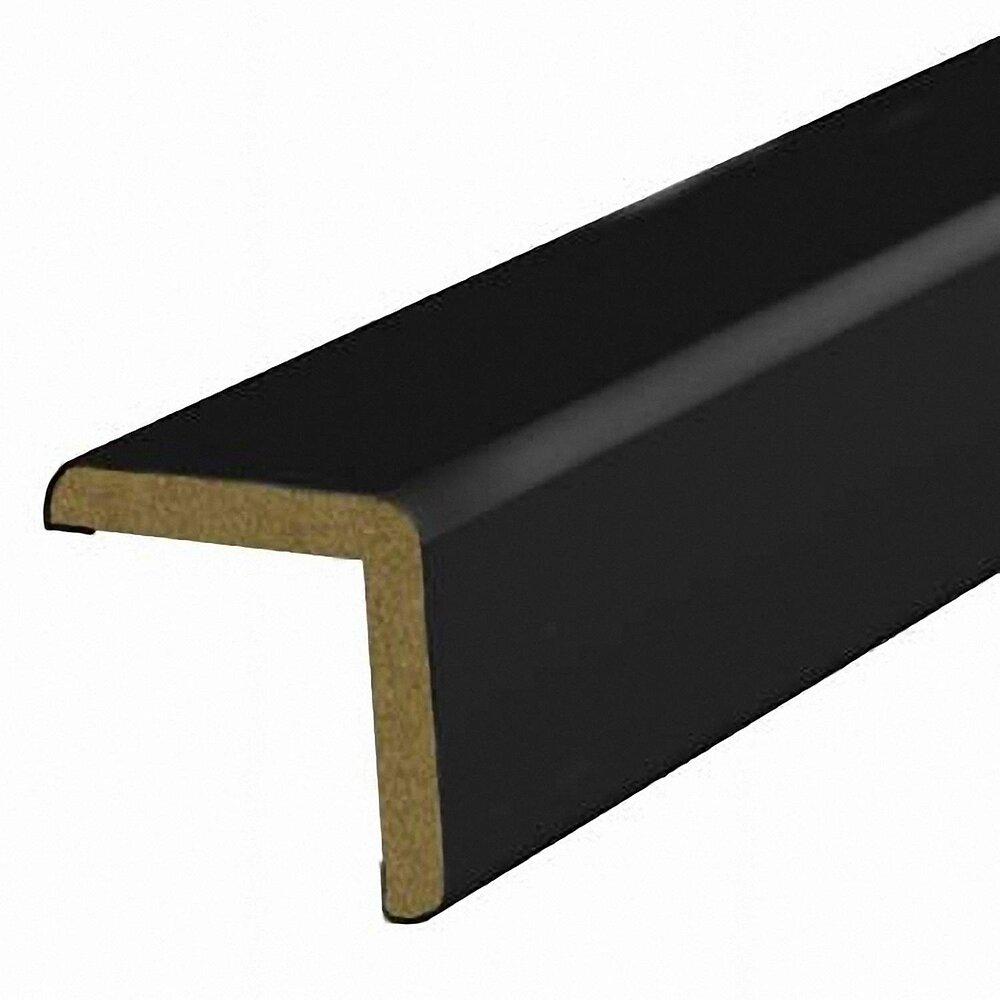 Baguette d'angle MDF revêtu Noir 25x25mm L.2.20m