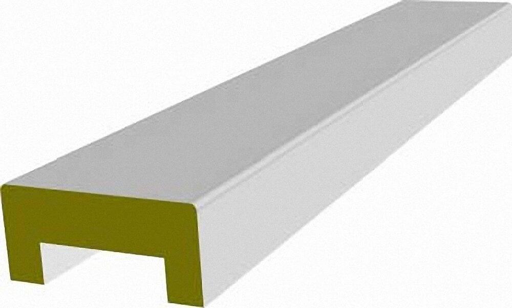 Nez de cloison MDF revêtu Blanc  19x89mm L.2.58m