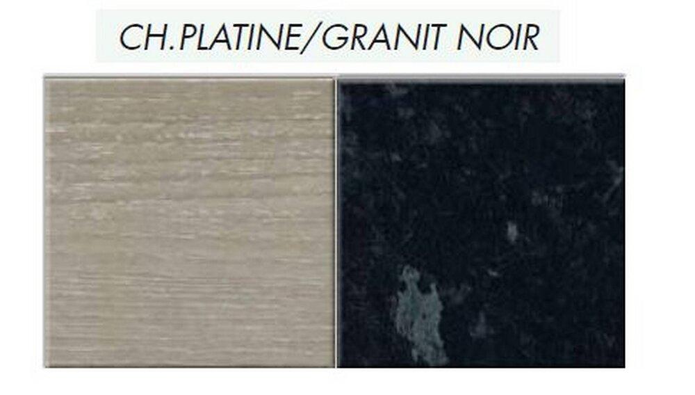 Crédence réversible Granit noir/Chêne plat 3000x600x9mm