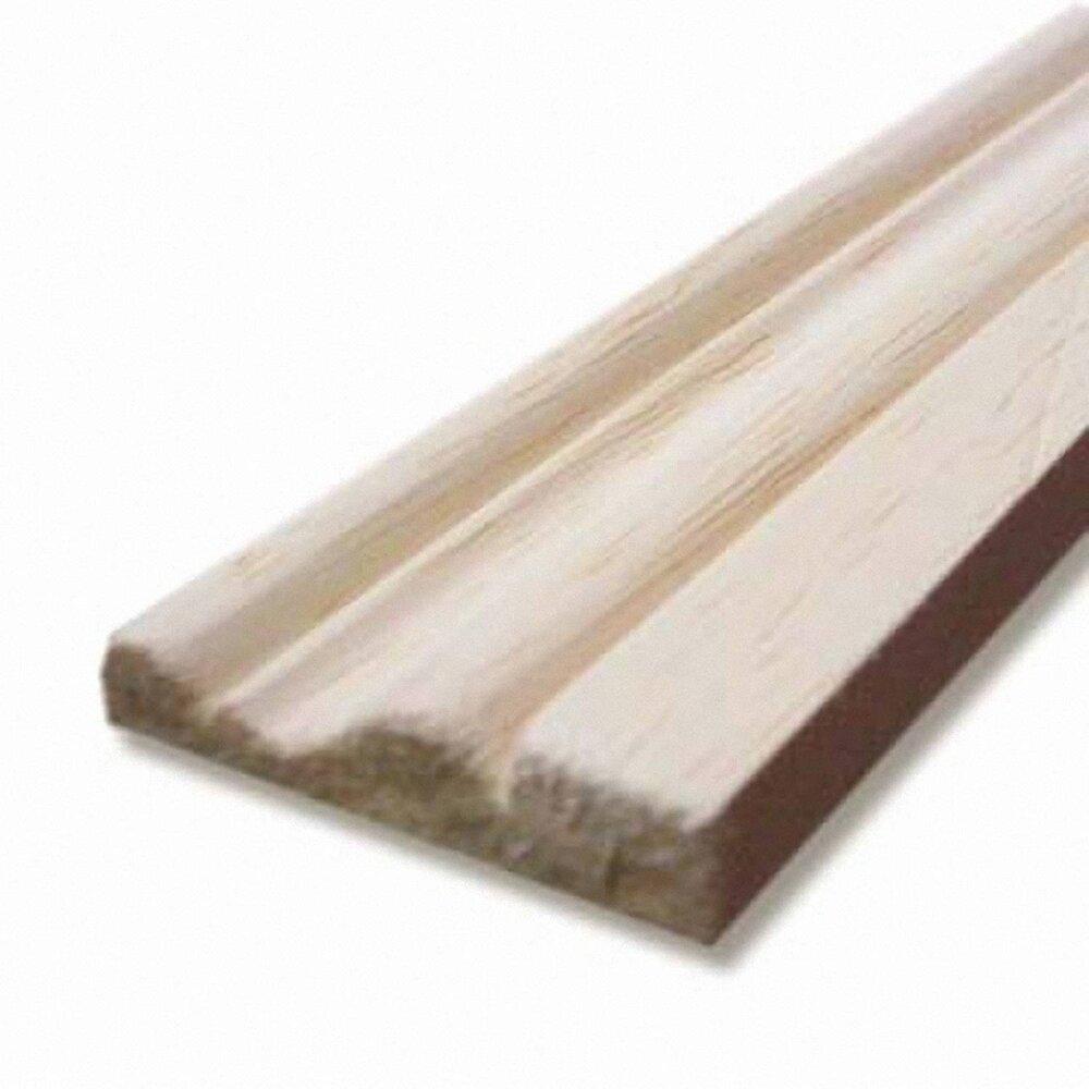 Chambranle bois exotique Blanc 9x38mm L.2.28m