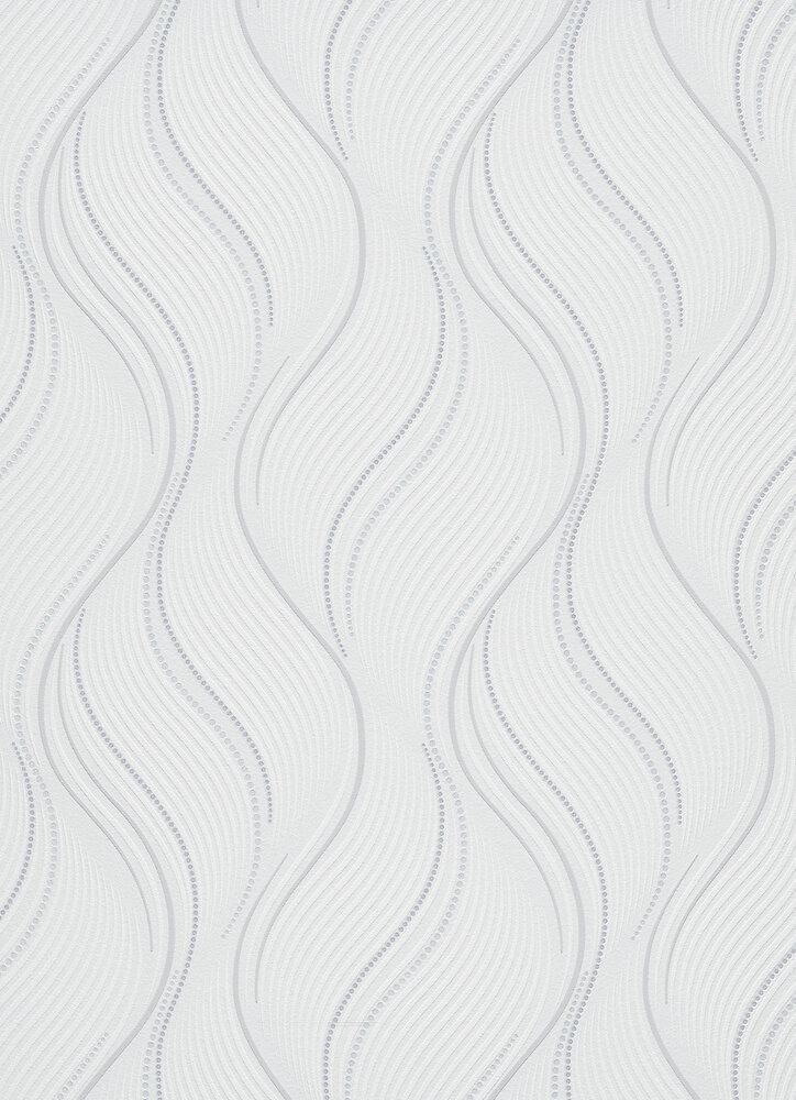 Vinyle expansé sur intissé vagues blanc