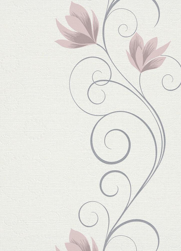 Vinyle expansé sur intissé fleur arabesque