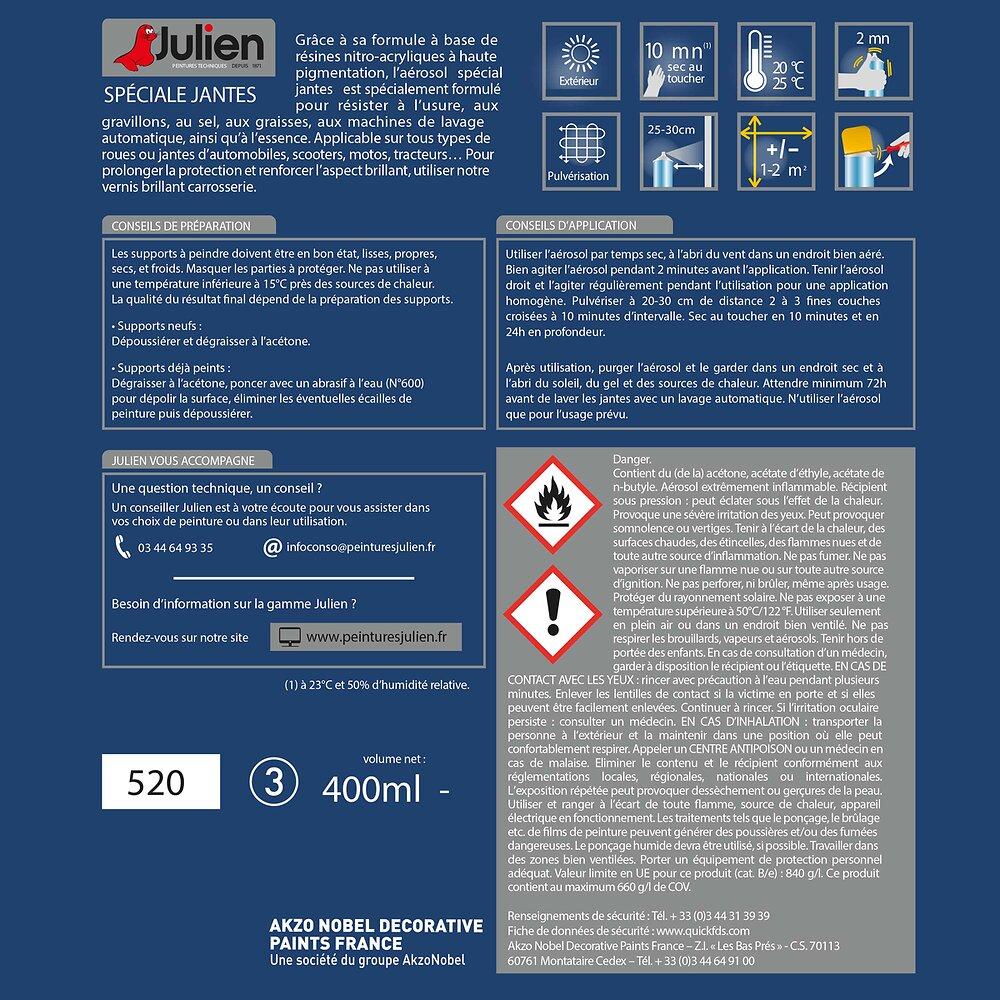 Aérosol SPECIAL JANTES Gris Brillant 400mL