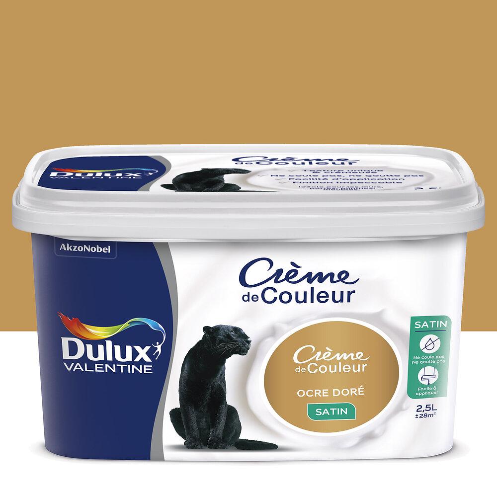 Peinture Crème de couleur SATIN Ocre Doré 2.5L