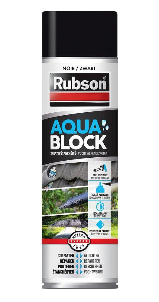Revêtement d'étanchéité Aquablock Noir Spray 300ml