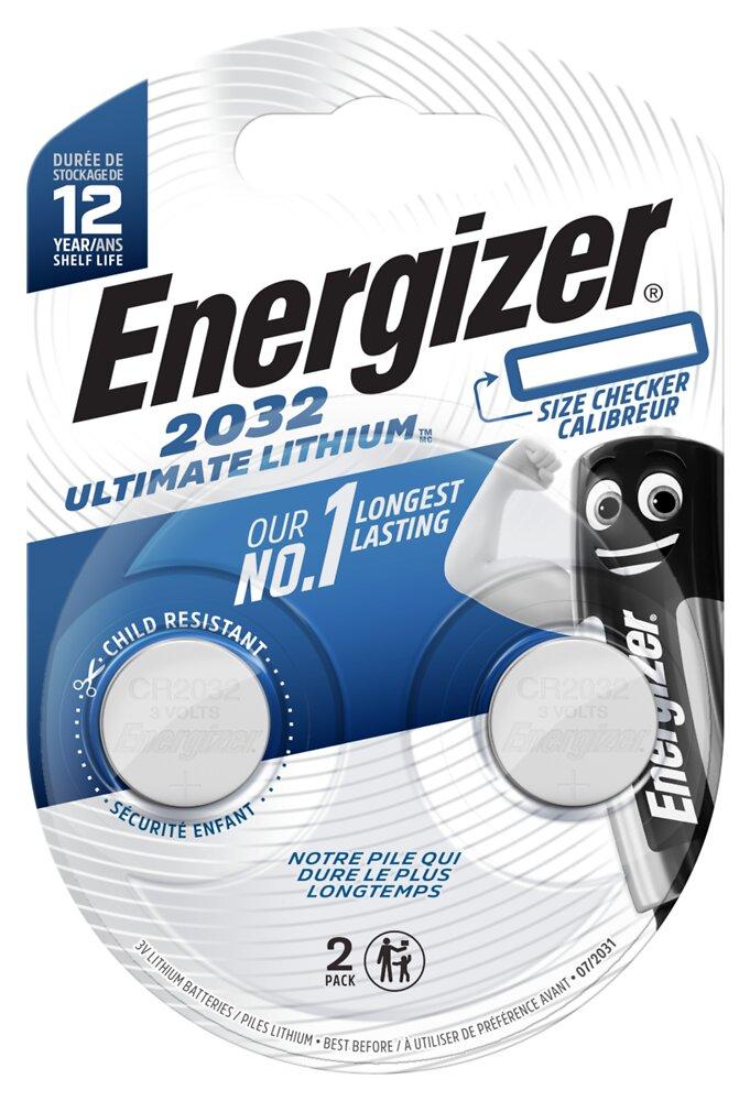 Lot de 2 piles lithium Performance CR2032