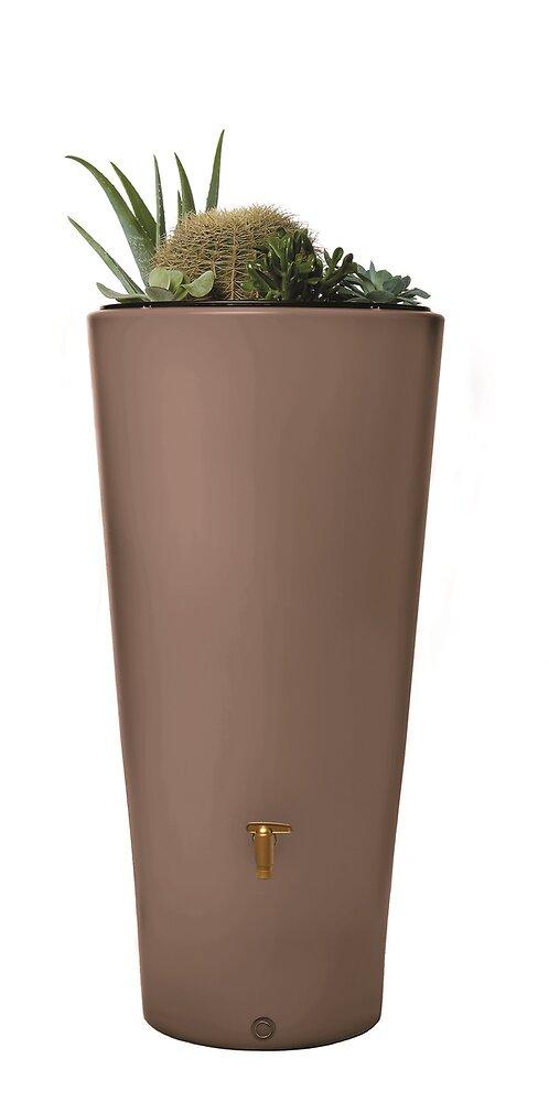 Cuve à eau vaso 2en1 220L taupe avec bac à plantes